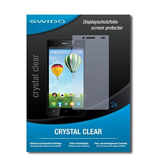 SWIDO Schutzfolie für Haier Phone L50 [2 Stück] Kristall-Klar, Hoher Härtegrad, Schutz vor Öl, Staub & Kratzer/Glasfolie, Bildschirmschutz, Bildschirmschutzfolie, Panzerglas-Folie