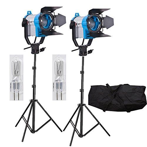 Fresnel de tungsteno vídeo 150W iluminación Continua como Arri Spot Light Pro de Dos Sets