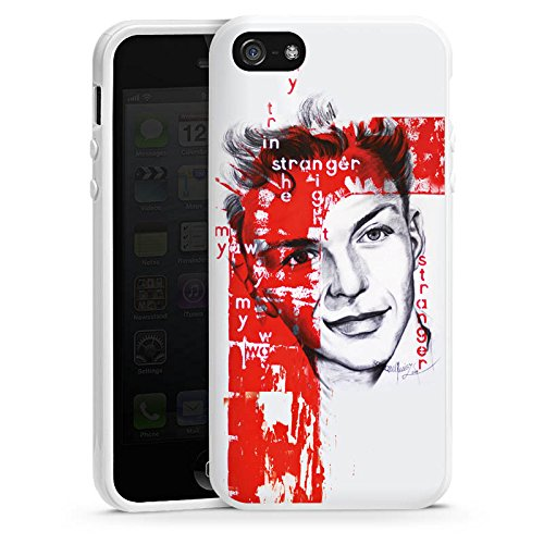 Apple iPhone 6 Housse Étui Silicone Coque Protection Frank Sinatra Dessin Homme Housse en silicone blanc