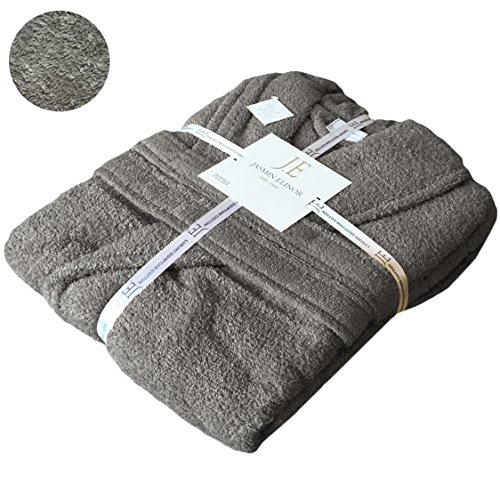 mens-ladies-unisex-egyptian-cotton-500-gsm-terry-towelling-hooded-bathrobe-dressing-gownl-xl-charcoa
