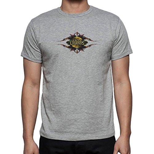 League Of Legends Logo Op Herren T-Shirt Grau