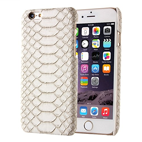 JING Pour IPhone 6 / 6s, Snakeskin Texture Hard Back Cover Housse de protection arrière ( Color : Beige ) Beige