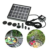 Bazaar 5V 1.5W Die Macht Solar DC Brushless Wasser Tauchfähig pompent Brunnen der Landschaft von Garten