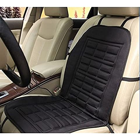 HimanJie Auto 12V Comfort - Cojín calefactor para coche, color negro