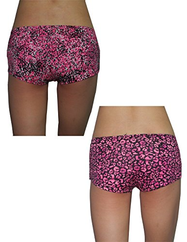 (Pack of 2) XOXO Damen Soft Boy Shorts Unterwäsche Höschen Multicolor