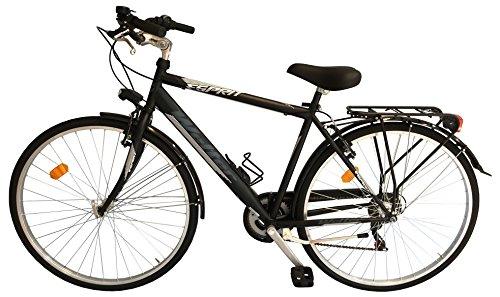'Vélo de ville city bike 28Welter Esprit Noir Taille Unique (170–185cm)