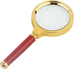 Okayji Antique Handheld Magnifier Magnifying Glass, 3X (70mm)