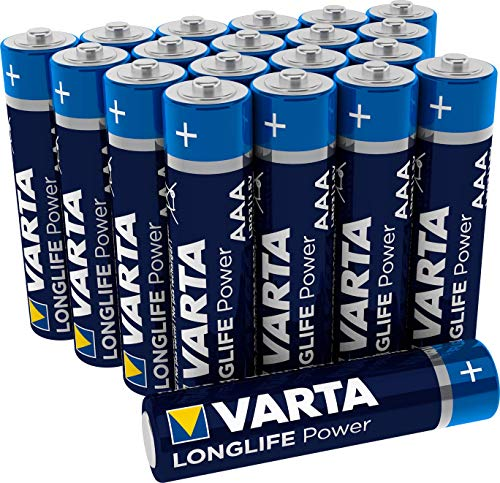 Varta Longlife Power Batterie AAA Micro Alkaline Batterien LR03, 20er Pack (Design/Produktname kann abweichen)