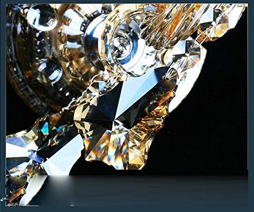 Europäischen Stil Kristall Wandleuchte Luxus Schlafzimmer Nachtwand Gang Ktv Kerze K9 Kristall Wandleuchte 1/2/3 Köpfe Wandleuchten, Cognic Gold, 3 Lichter -