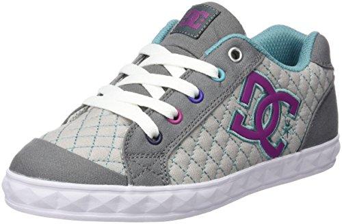 DC Shoes Bambina Chelsea Stud scarpe sportive grigio Size: 35