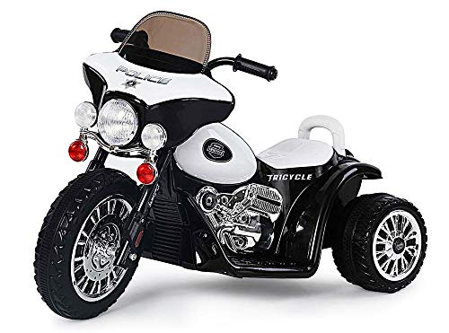 Kaiser-Handel.de Kinder Elektromotorrad Police Harley Chopper Motorrad Cross Pocket Bike 25 Watt 6v Tricycle