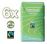 Bionatural Bio Fairtrade Kaffee-Espresso ganze Bohne by J. Hornig, 100 % Arabica, 6 x 1000 g