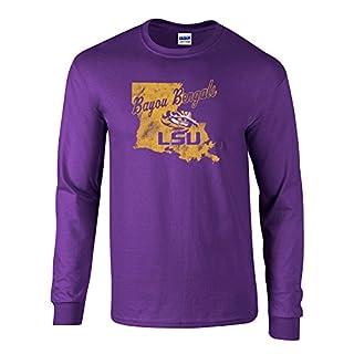 Elite Fan Shop LSU Tigers Long Sleeve Tshirt Purple - XL