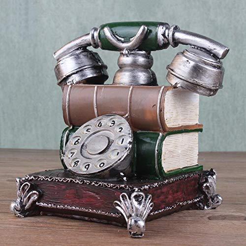 Coomir Retro Resina Teléfono Figurilla Piggy Bank