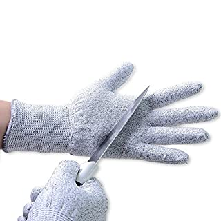 Aituo 1 Pair Cut Resistant Kitchen Gloves - High Performance Level 5 Protection, Food Grade, EN 388 Certified