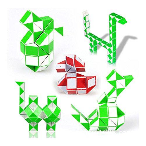 Seguryy 5pcs Zauberwürfel-Spielzeug zum Formen verschiedener Formen, ab 3 Jahre, Farbe je nach Lagerbestand