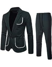STRIR Traje Suit Hombre 2 Piezas Chaqueta Chaleco pantalón Traje al Estilo  Occidental 7cbe5928035