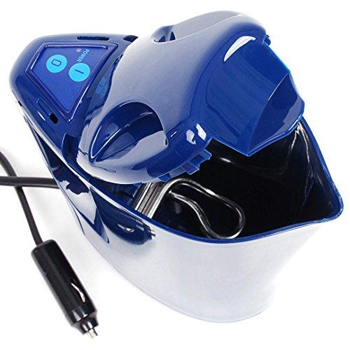 Preisvergleich Produktbild 12 Volt Reise Wasserkocher Soft Touch blau für PKW KFZ Auto Boot Caravan Zelten