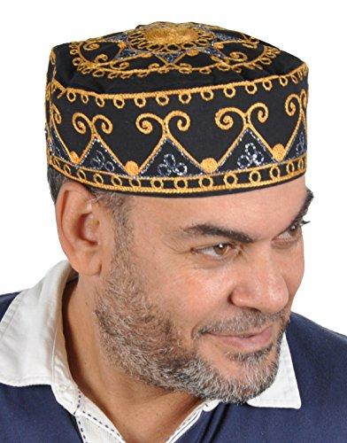 Scheich Outfit Arabischen (Traditionelle Arabische Kopfbedeckung - Araber - Karnevalskostüm/ Farbe:)