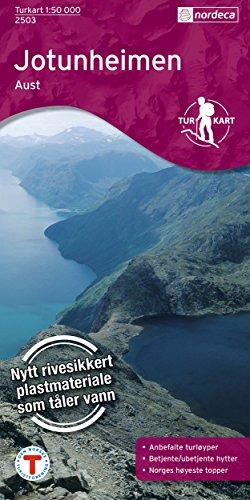 Norwegen topographische Wanderkarte Jotunheimen Aust, Turkart 1:50.000 [Landkarte]