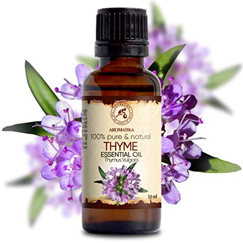 Thymianöl 30ml - 100% Naturreines Ätherisches Thymian Öl - Thymus Vulgaris Oil - Österreich - Guten für Beauty - Körperpflege - Wellness - Schönheit - Entspannung - Massage - Duft Diffuser - Raumduft