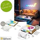 nanoleaf Aurora 21er Starter Kit 42W RGBW Farbwechsel LED Panel Modul Lichtpanel Apple HomeKit kompatibel