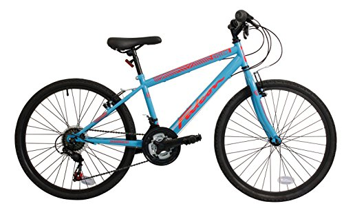 Falcon Cyclone 24 Inch Boys Mountain Bike 18 Speed Gears Bright Blue - MV Sports