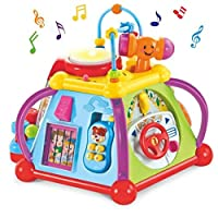 WISHTIME Baby Activity Musical Educational Toy Activity Centre Musical Cube Play & Learning Toy With lights and Sounds For Boys and Girls Toddlers