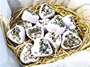 15 Lavender Mini Bath Bombs, Sprinkles, Organic Natural Wedding Birthday Gift Set Lavender Vetiver, Neroli Ess
