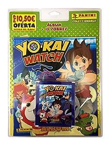 Yokai Watch - Blister, 15 sobres con álbum (Panini 003170BLIE2)