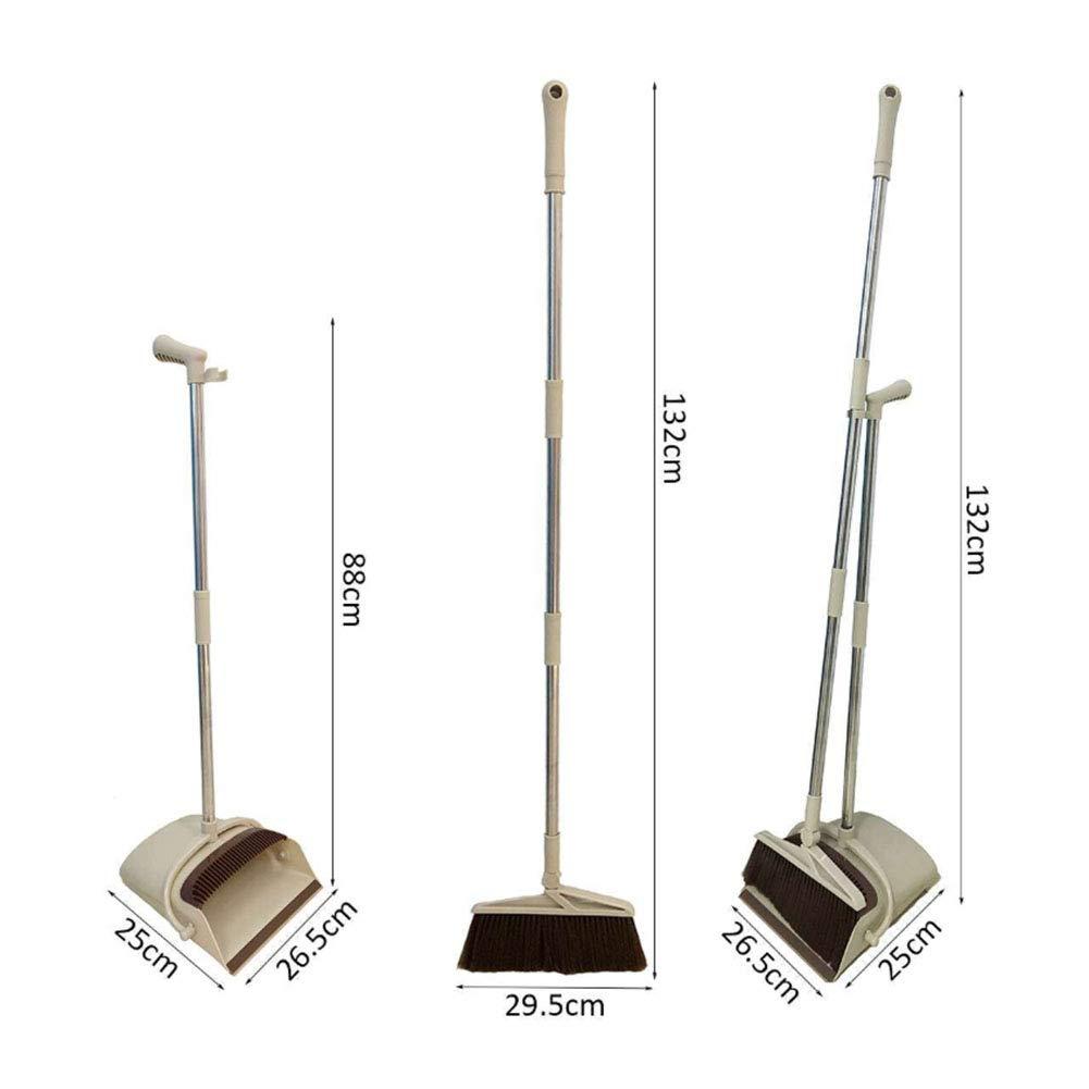 Set scopa con manico lungo con paletta pieghevole. in gomma Set di 2 pezzi
