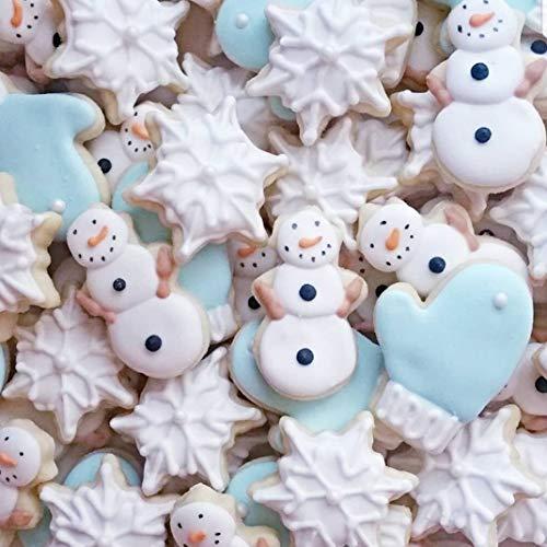 Set de 8 cortadores de galletas navideñas para niños - Estrella Arbol Angel Campana Media y Mas Formas de KAISHANE