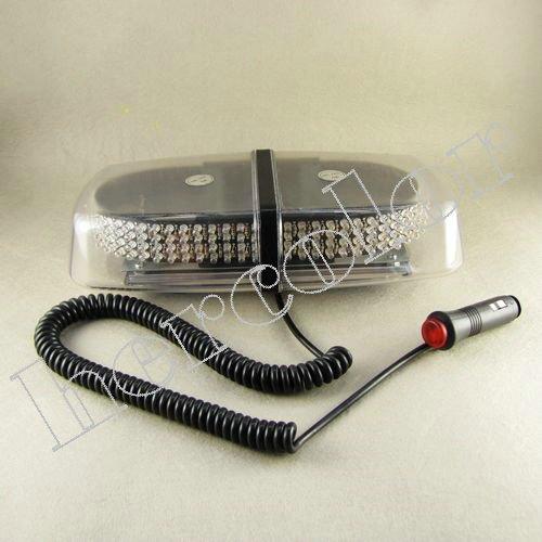 240 LED Truck Car Secure Warning Mini Light Bar Strobe Amber White Light