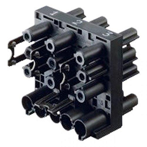 Bachmann Verteilerblock Stromweiterleitung Wieland, 375101, Schwarz