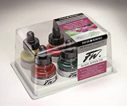Daler-Rowney FW Ink Primary Colours Set of 6 X 29.5 ML