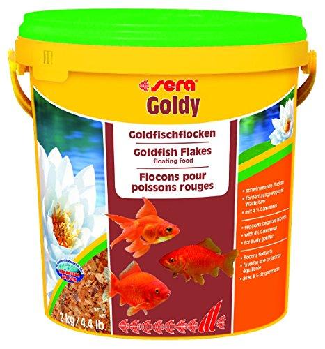 sera 00890 goldy 10 Liter das Flockenfutter für kleinere Goldfische und andere Kaltwasserfische