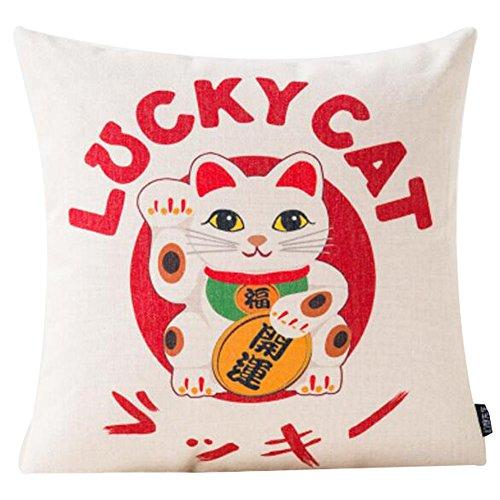 Black Temptation Style Japonais Coussin d'oreiller Confortable pour la Maison/Sushi Restaurant 45x45cm -A29