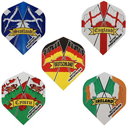 PENTATHLON Country Standard Form Dart Flights – Land Flagge Flights, schottland (Schottland Dart Flights)