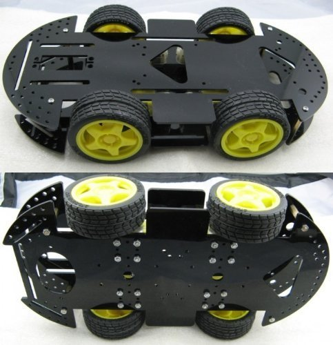 New 4WD Robot Smart Car Kits Chassis Mobile Platform 4 drive Special Price Gift by Hwydo