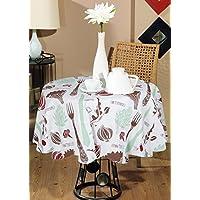 Stampa di verdure rotonda nozze 100% cotone indiano stampato moderna copertura tavolo tovaglia rotonda grande (Tovagliolo Di Uccello A Mano)