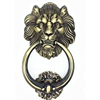 UniDecor Large Antique Lion Door Knocker Lion Head Door Handle by Unilocks