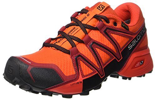 Salomon Homme Speedcross Vario 2 GTX Chaussures de Course à Pied Et Trail Running, Synthétique/Textile, Orange, Pointure: 42 2/3
