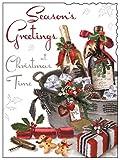 Karten Fülle, Online Jonny Javelin offen Weihnachten Karte–Wein Flaschen, Ice Bucket & Geschenk 18,4x 14cm