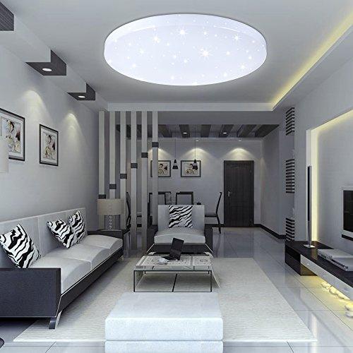 VINGO®16W LED Deckenleuchte Kaltweiß Starlight Effekt Schön Rund Korridor Deckenlampe Wand-Deckenleuchte Badezimmer geeignet