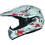 ATO Kids Pro Cross Casco Blanco. Tamaño: S a XL Casco infantil Cross BMX MX Enduro casco