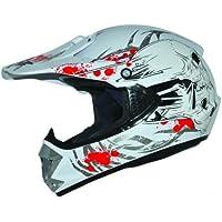 Kids Pro Kinder Crosshelm Weiß Größe: XS 53-54cm Kinderhelm Kinder Cross BMX MX Enduro Helm