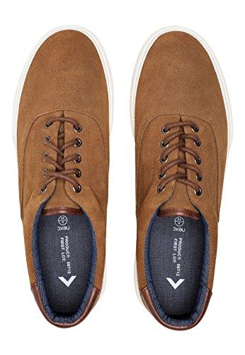 Chaussures À Lacets En Daim Marron Pour Homme