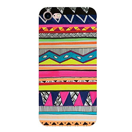 Vanki® Coque iPhone7, Flexible Lisse Housse TPU Souple Etui de Protection Silicone Case Soft Gel Cover Anti Rayure Anti Choc pour Iphone7 4.7Inch-Les motifs géométriques 7