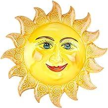 Sole in Ceramica da Appendere Decorato a Mano, Caltagirone.