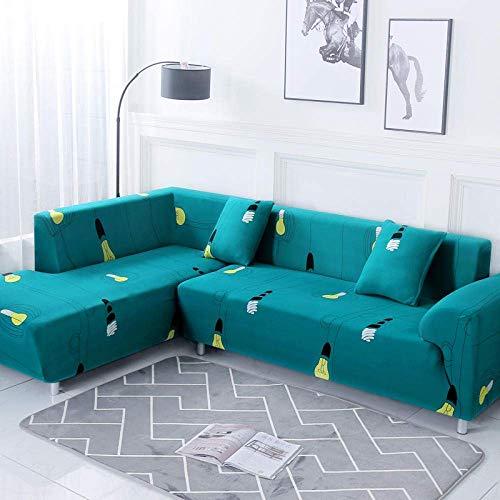BAOFI Cubierta de Sofá rinconera, Funda de Sofa Cama Universal Elastica, Couch Cover 1 2 3 4 Plaza, para Gatos, Perros, Mascotas Durable,7,1 Lugares y 2 Lugares